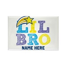 Add Name Lil Bro Rectangle Magnet (100 pack)