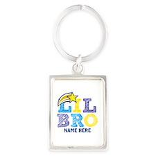 Add Name Lil Bro Portrait Keychain