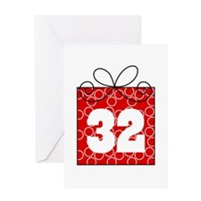 32nd Birthday Mod Gift Greeting Card