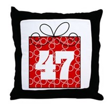 47th Birthday Mod Gift Throw Pillow