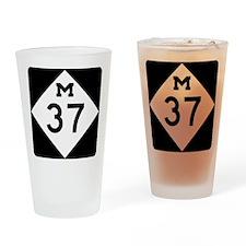Highway M-37 Drinking Glass