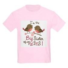 Big Sister of twins - Mod Bird T-Shirt