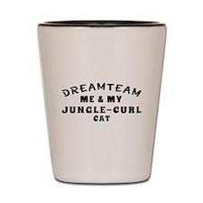Jungle-curl Cat Designs Shot Glass