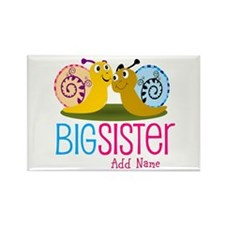Add Name Big Sister Rectangle Magnet