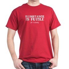 Resistance Is Futile Red T-Shirt