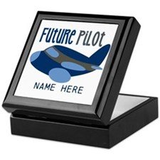 Add Name Future Pilot Keepsake Box