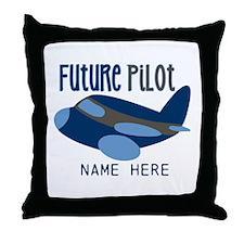 Add Name Future Pilot Throw Pillow