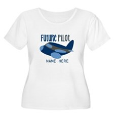 Add Name Future Pilot Plus Size T-Shirt