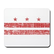 Aged Washington D.C. Flag Mousepad