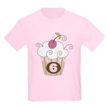 6th Birthday Cupcake T-Shirt