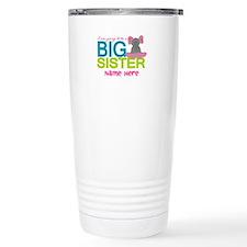 Personalized Elephant Big Sister Travel Mug