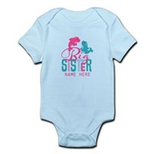 Custom Dolphin Big Sister Infant Bodysuit