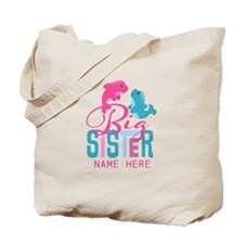 Custom Dolphin Big Sister Tote Bag
