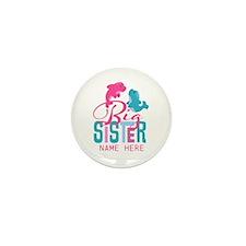 Custom Dolphin Big Sister Mini Button (100 pack)