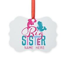 Custom Dolphin Big Sister Picture Ornament