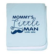 Custom Mommy's Little Man baby blanket