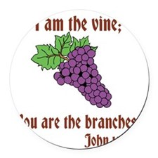 The Vine Round Car Magnet