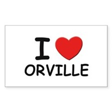 I love Orville Rectangle Decal