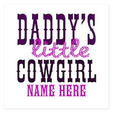 Custom Daddy's Little Cowgirl 5.25 x 5.25 Flat Car