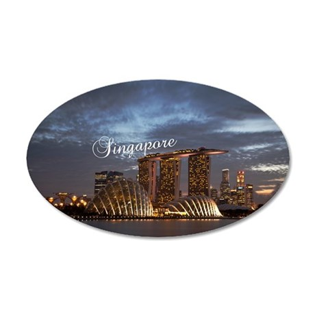 Singapore 35x21 Oval Wall Decal