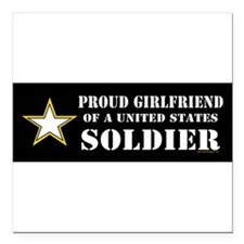 "Cute Army medic Square Car Magnet 3"" x 3"""