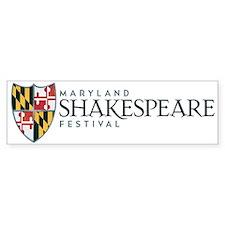 MD Shakespeare Dogs Bumper Bumper Sticker