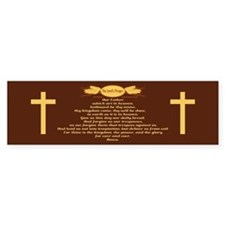The Lords Prayer Wheat Bumper Bumper Sticker