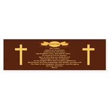 The Lords Prayer Wheat Bumper Bumper Stickers