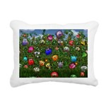 Cuddles by the fence Rectangular Canvas Pillow