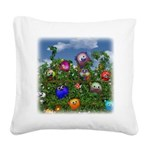 Cuddles by the fence Square Canvas Pillow
