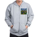 Cuddles by the fence Zip Hoodie
