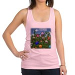 Cuddles by the fence Racerback Tank Top