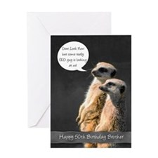 Meerkat 50th Birthday Card For Brother