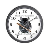 Chin Raisin Wall Clock