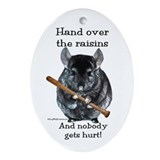 Chin Raisin Oval Ornament