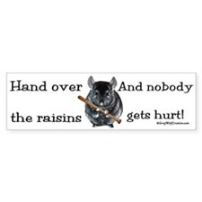 Chin Raisin Bumper Bumper Sticker