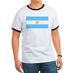 Argentina Blank Flag Ringer T