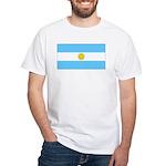 Argentina Blank Flag White T-Shirt