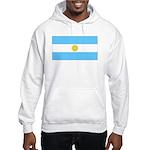 Argentina Blank Flag Hooded Sweatshirt