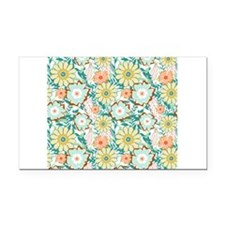 Floral Feud Rectangle Car Magnet
