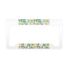 Floral Feud License Plate Holder