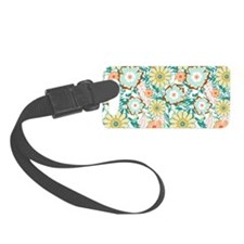 Floral Feud Luggage Tag