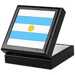 Argentina Blank Flag Keepsake Box