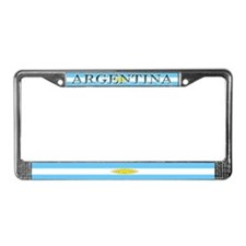 Argentina Blank Flag License Plate Frame