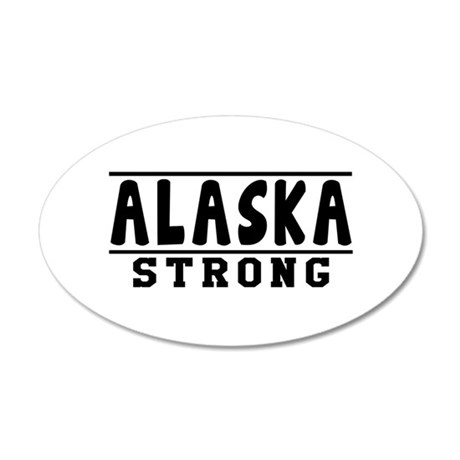 Alaska Strong Designs 20x12 Oval Wall Decal