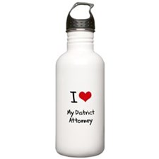 I Love My District Attorney Water Bottle