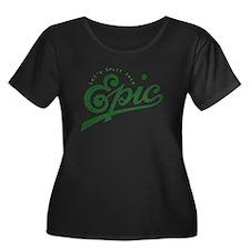 Faded Story Split Plus Size T-Shirt