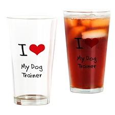 I Love My Dog Trainer Drinking Glass