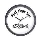 Fish Fear Me Wall Clock