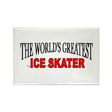 """The World's Greatest Ice Skater"" Rectangle Magnet"